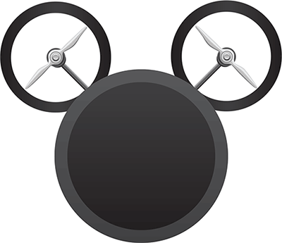 mickey mouse-shaped drone
