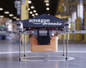 Amazon drone with freight
