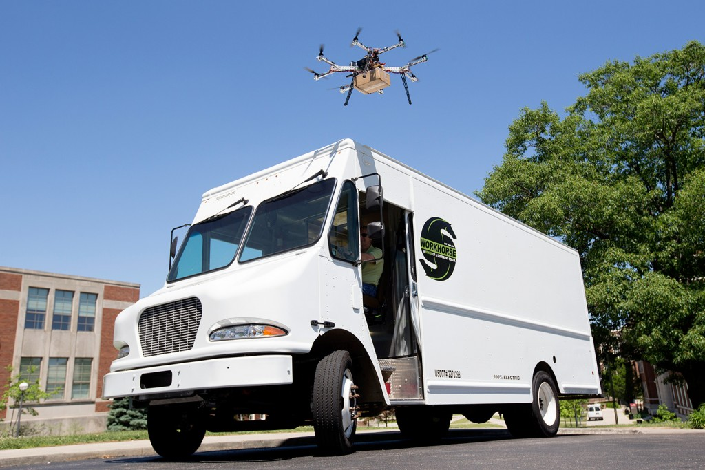 Workhorse truck with Horsefly drone