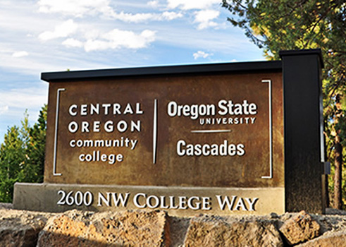 Central Orgeon Community College sign